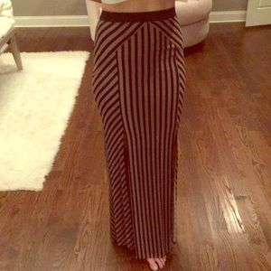 New Striped Free People Pull On Fitted maxi skirt